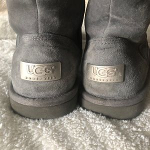 UGG tall suede boot with zipper
